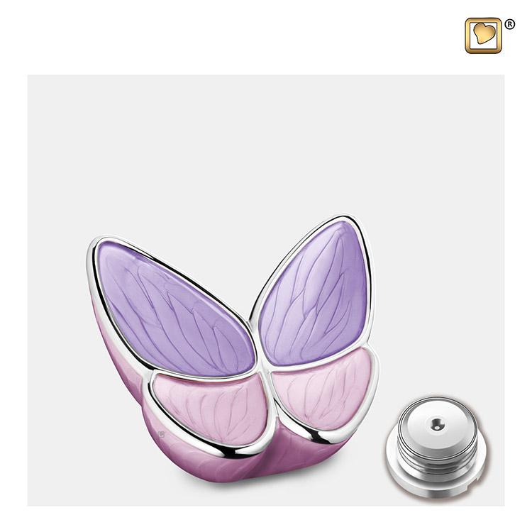 Mini LoveUrns Butterfly Urn Roze (0.05 liter)