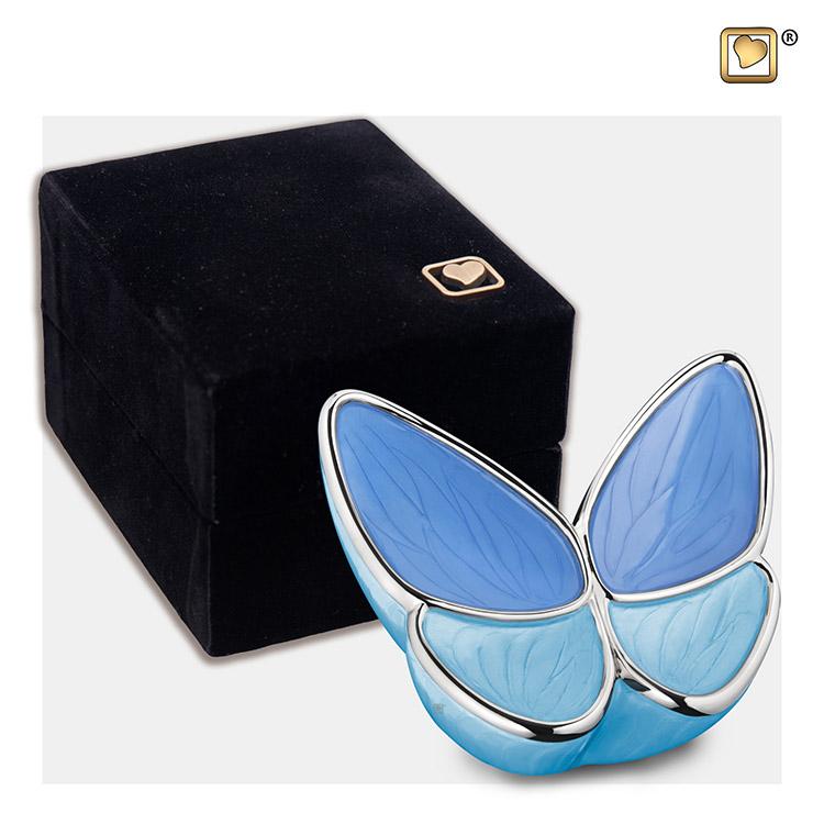 Blauwe Butterfly Dierenurnen Voordeelset (3.2, 0.4 en 0.05 liter)