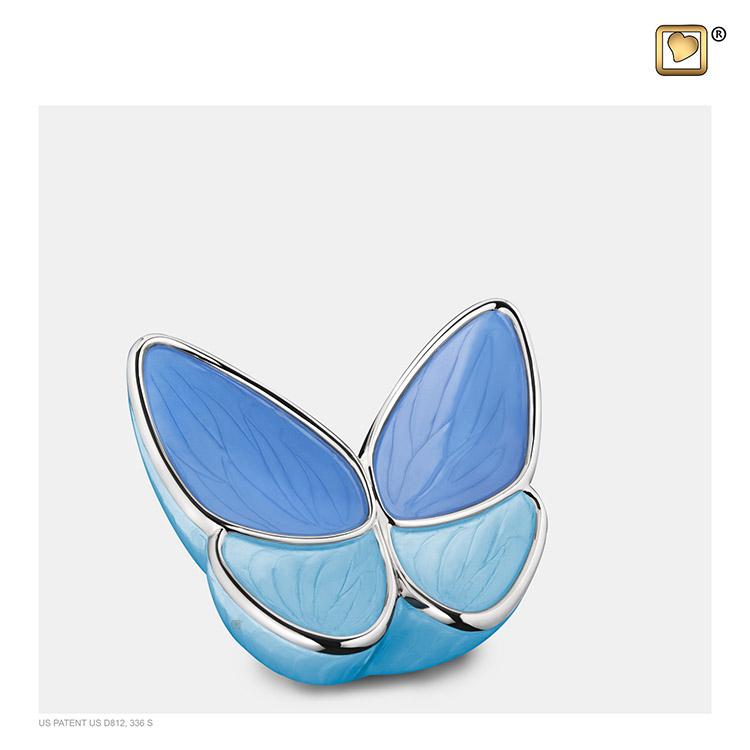 Mini Blauwe LoveUrns Butterfly Dieren-Urn (0.05 liter)