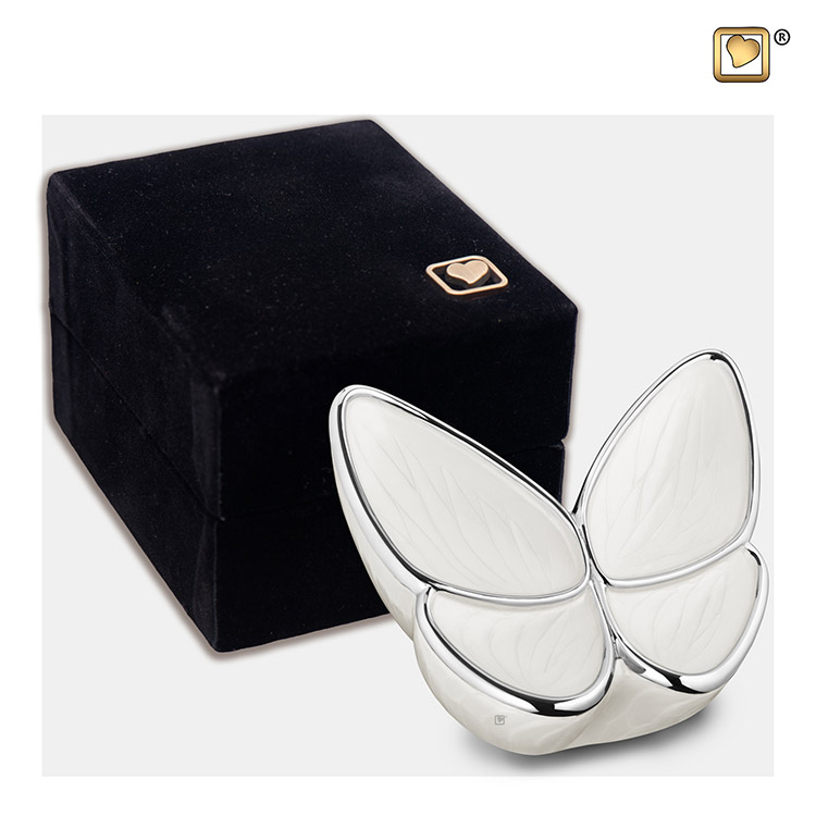 Mini LoveUrns Butterfly Urn Wit (0.05 liter)