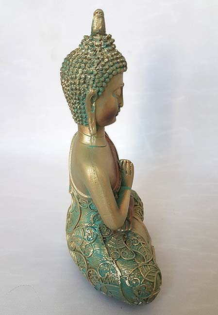 Thaise Meditatie Buddha Miniurn Groenkoper (0.1 liter)