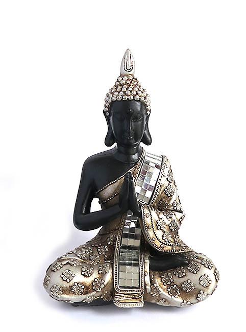 Thaise Namaste Mudra Boeddha Miniurn  (0.3 liter)