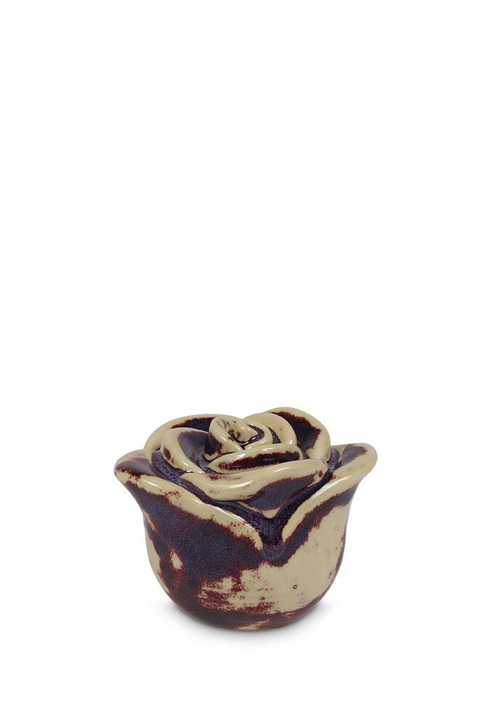 Mini Keramische Donker Gevlekte Roos Urn (0.35 liter)