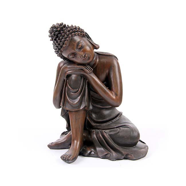 Kleine Urn Slapende Indische Buddha Brons Links (0.35 liter)