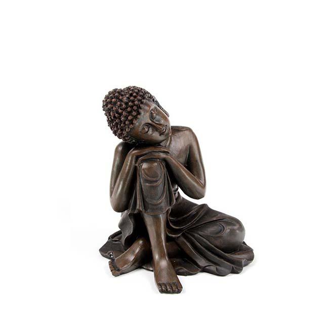 Mini Urn Slapende Indische Buddha Brons Links (0.15 liter)