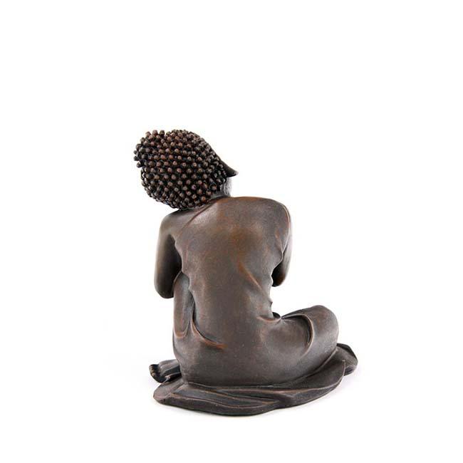 Dierenurn Slapende Indische Buddha Brons Rechts (0.15 liter)