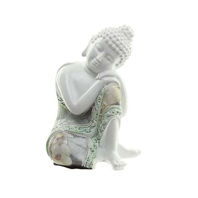 Kleine Urn Slapende Indische Buddha Wit Links (0.35 liter)