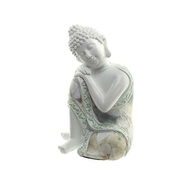 Kleine Urn Slapende Indische Buddha Wit Rechts (0.35 liter)