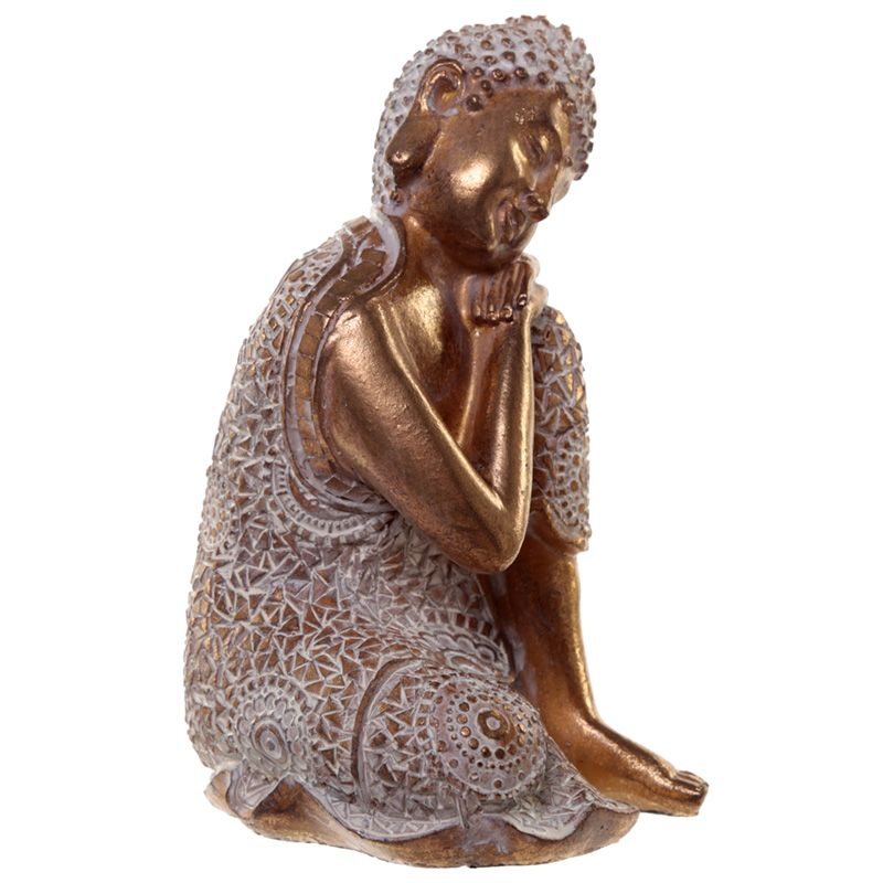Kleine Slapende Indische Buddha Urnen Voordeelset Oudgoud (1 liter)