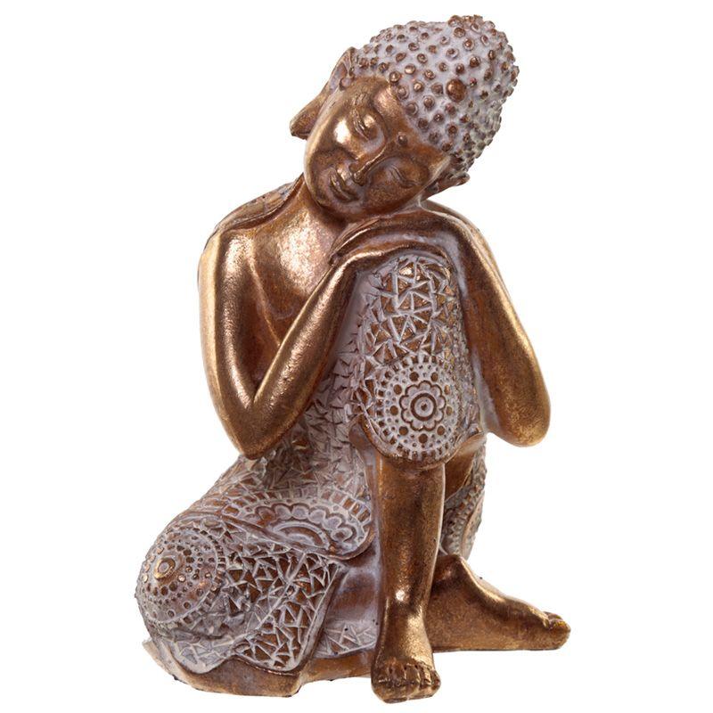 Dierenurn Slapende Indische Buddha Oudgoud Links (0.5 liter)