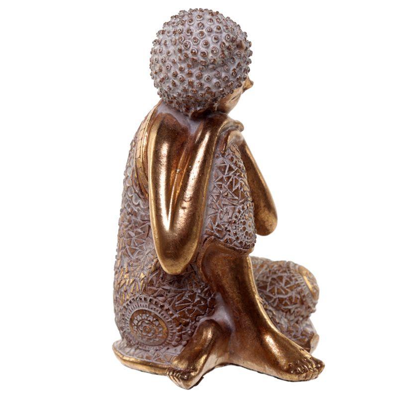 Kleine Urn Slapende Indische Buddha Oudgoud Rechts (0.5 liter)