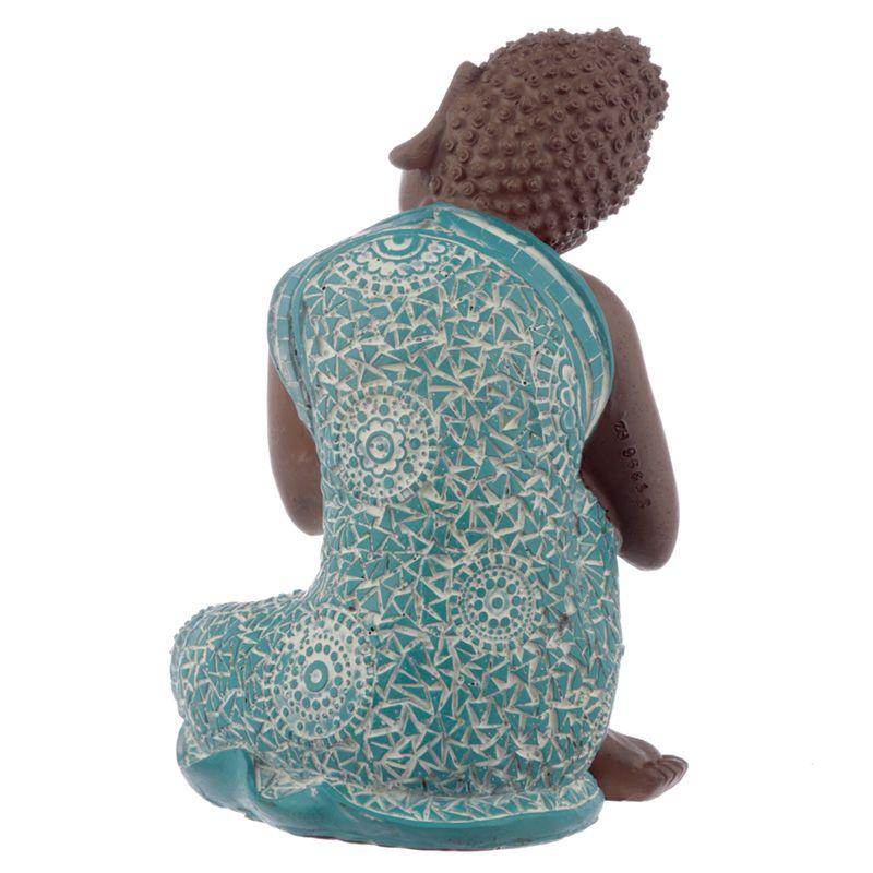 Kleine Urn Slapende Indische Buddha Turkoois Rechts (0.5 liter)