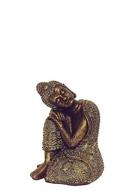 Mini Dierenurn Slapende Indische Buddha XS Brons (0.025 liter)