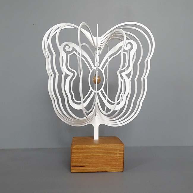 3D Mini Dierenurn Vlinder met Asbol en Asbuisje, Zwart of Wit (0.015 liter)