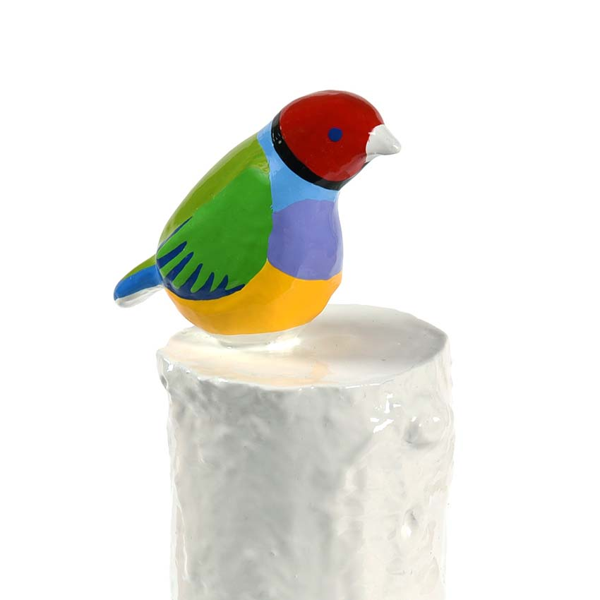 Kunsthars Mini Dierenurn Prachtvink (0.18 liter)