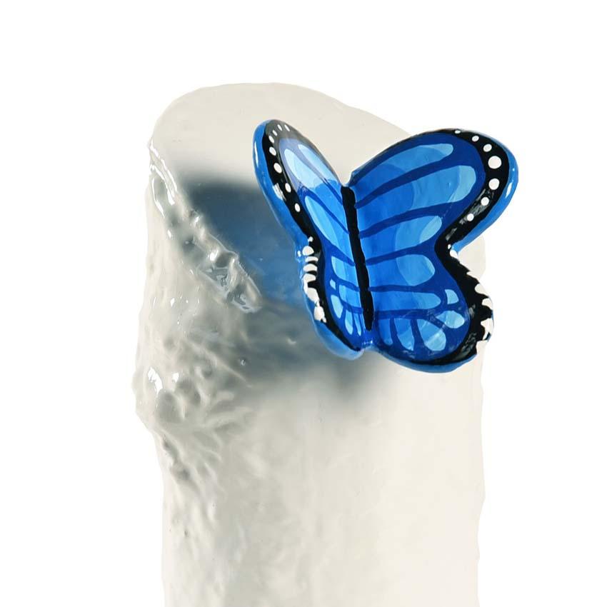 Kunsthars Mini Urn Blauwe Vlinder (0.15 liter)