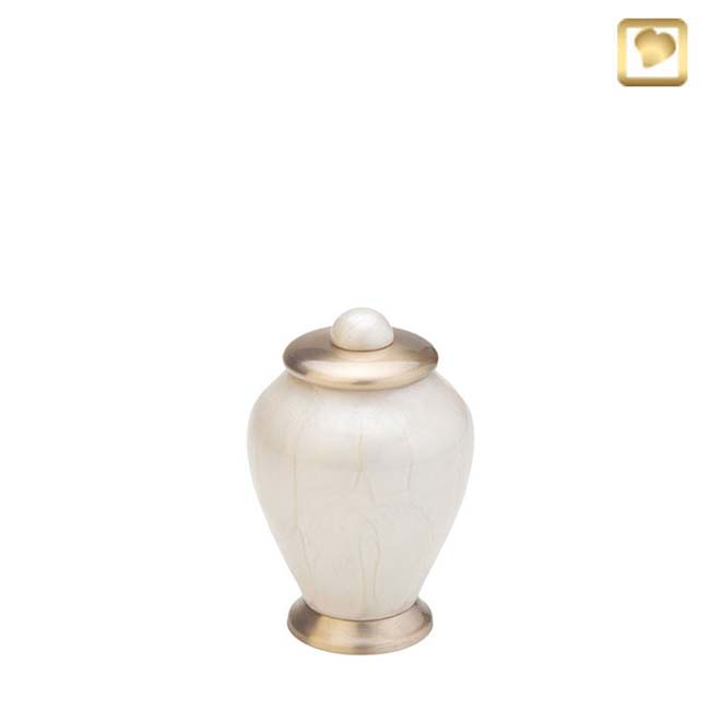 Messing Mini Simplicity Urn Witmarmer (0.1 liter)