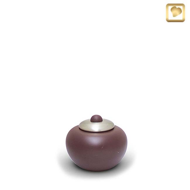 Messing Mini Simplicity Pot Urn Cranberry (0.1 liter)