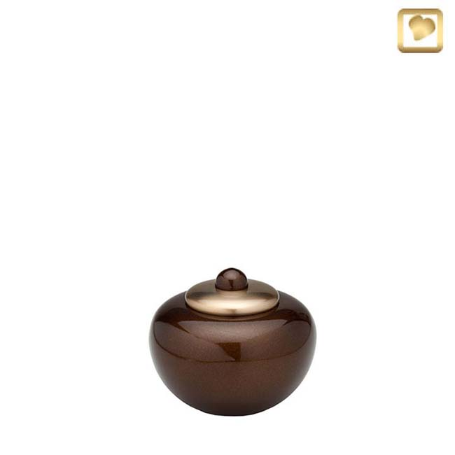 Messing Mini Simplicity Pot Urn Golden Brown (0.1 liter)