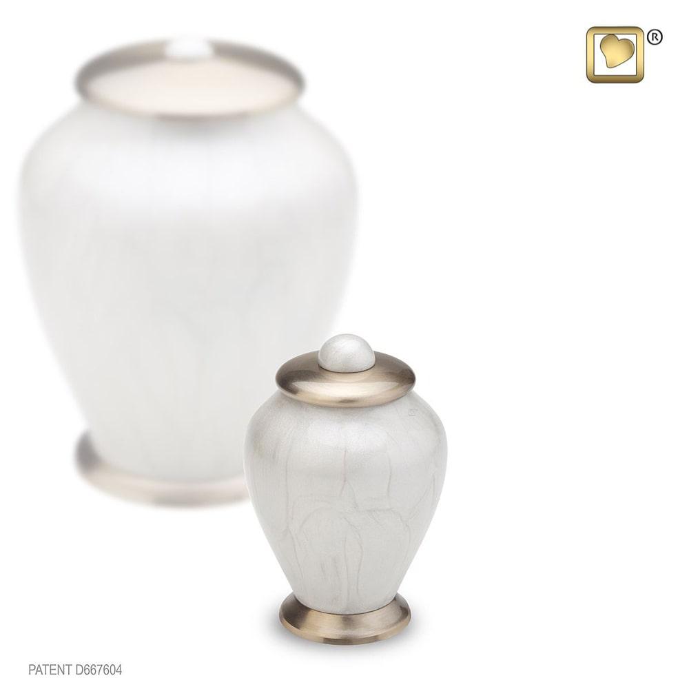LoveUrns Mini Simplicity Urn Witmarmer (0.075 liter)