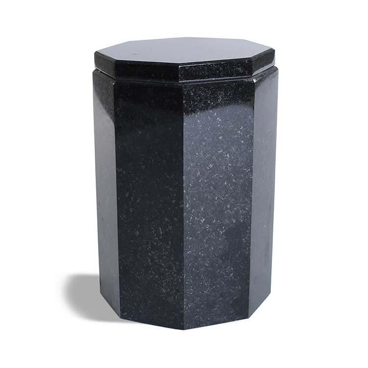 Slanke Achtkantige Granieten Pot-Urn Marlin (3.2 liter)