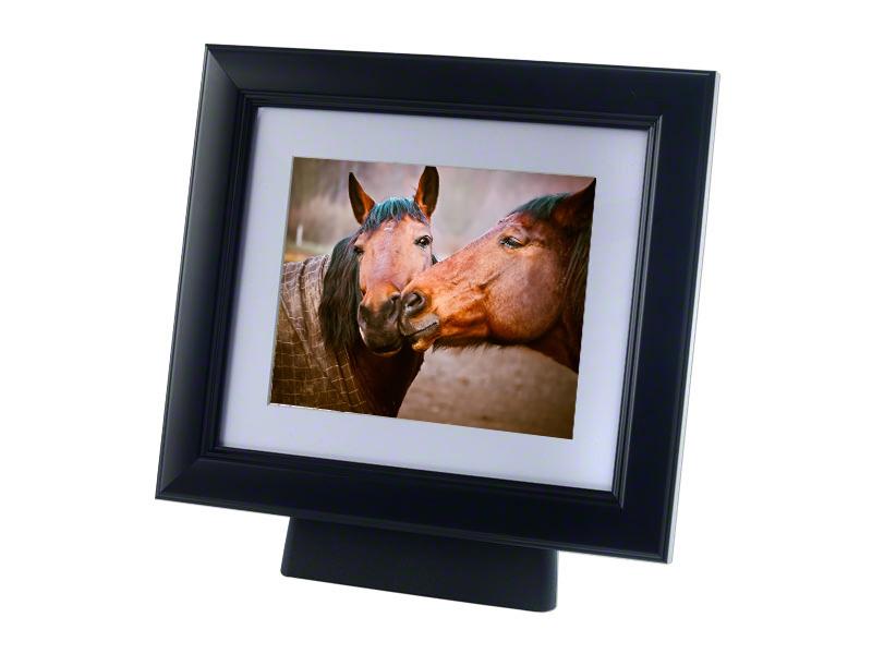Paard of Pony Urn met Houten Fotolijst Zwart (4 liter)