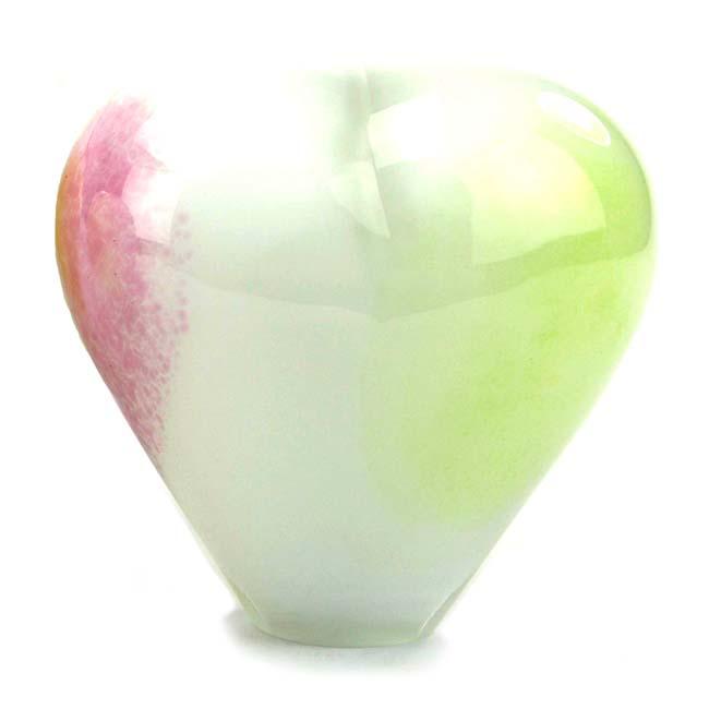 Kristalglazen Staande Hart Urn Pasteltinten Opaque (0.65 liter)