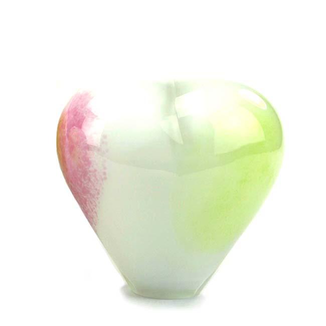 Kristalglazen Dieren Hart Urn Pasteltinten Opaque (0.45 liter)