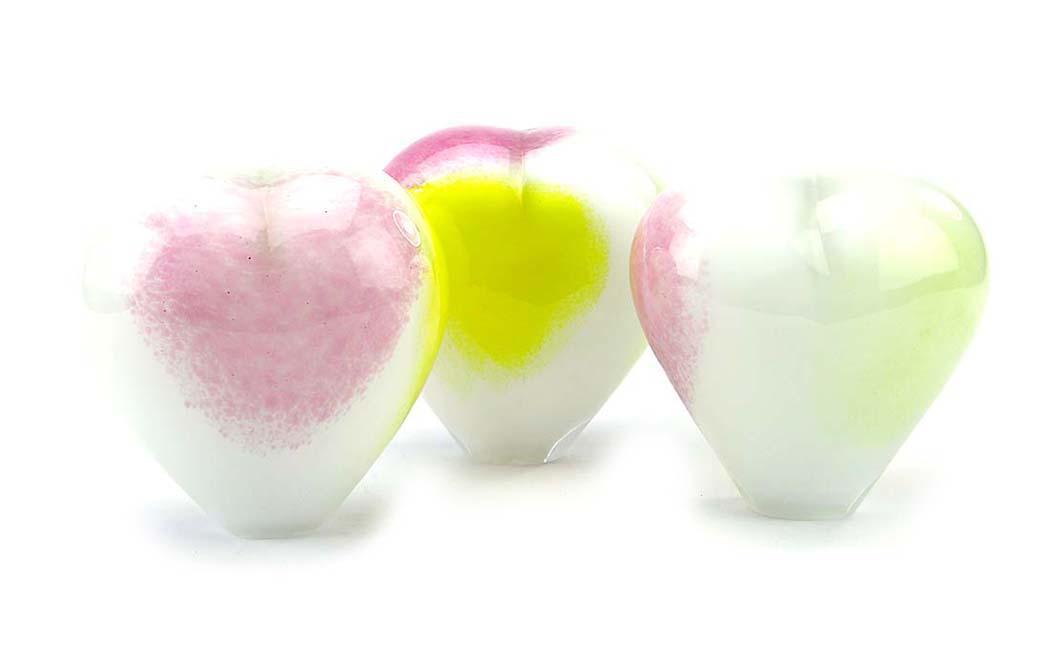 Kristalglazen Staande Hart Urn Pasteltinten Opaque (0.45 liter)