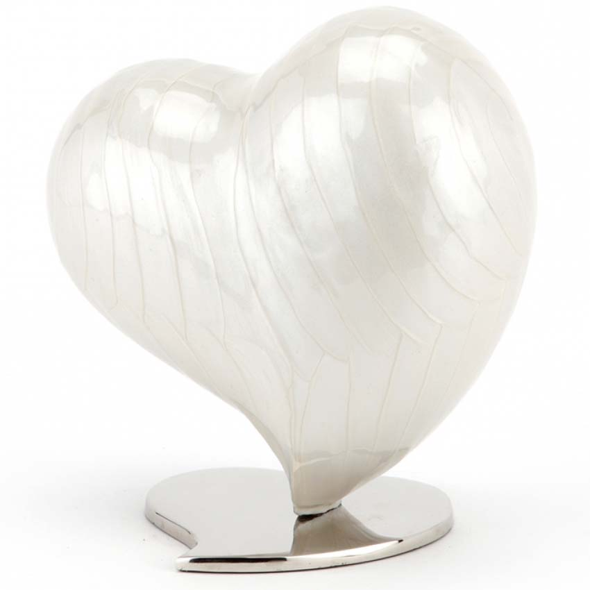 XL Mother of Pearl Dieren Hart Urn (1.5 liter)