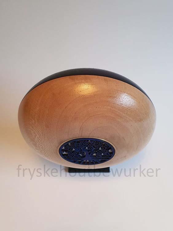 Kleine Purple Eye Design Urn op Sokkel (ca. 0.5 liter)