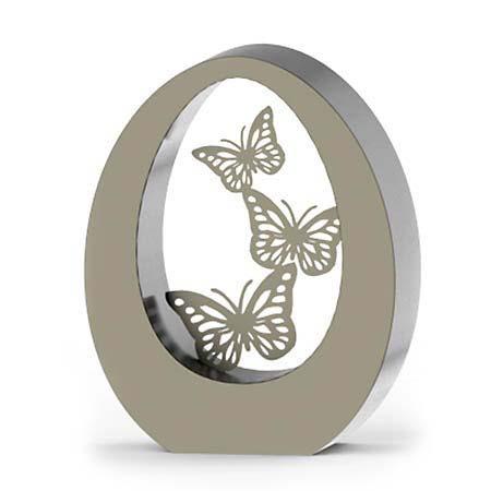 RVS Oval Butterflies Dierenurn (3.5 liter)
