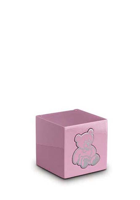Houten Teddybeer Dieren Urn Roze (0.3 liter)