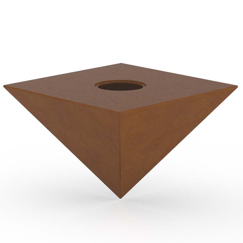 RVS XXL Piramide Urn (8 liter, geschikt als duo urn)