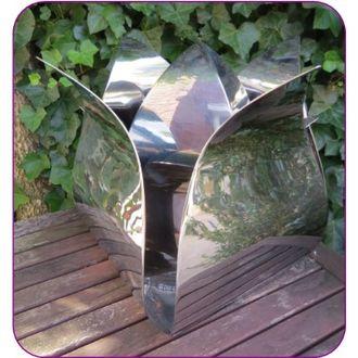 Grote RVS Roos Urn (3.5 liter)