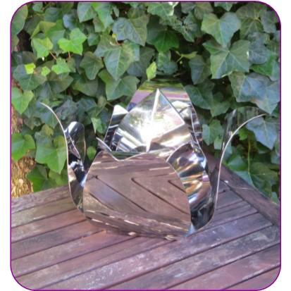 Kleine RVS Roos Urn (2.0 liter)
