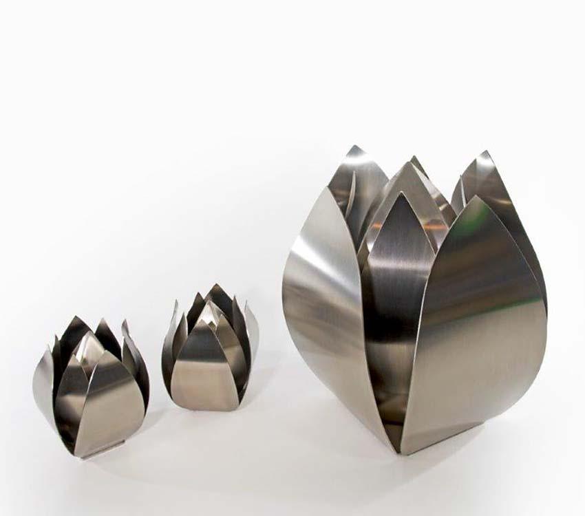 RVS Tulpen Dieren Urnen Voordeelset (3.5 en 0.05 liter)