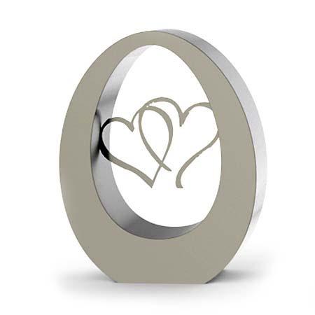 RVS Oval Hearts Urn (3.5 liter)