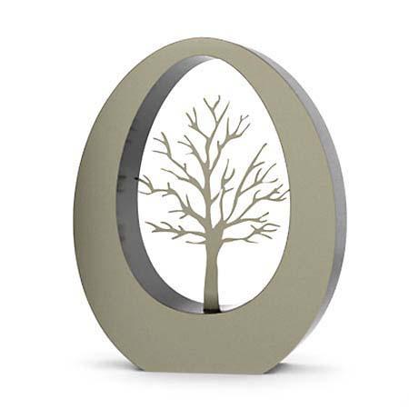 Grote RVS Oval Levensboom Urn (3.5 liter)