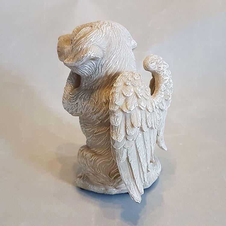 Staande Honden Urn met Engel Vleugels (0.6 liter)