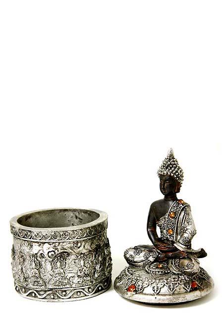 Thais Meditatie Boeddhaatje op Ronde Asbox (0.10 liter)