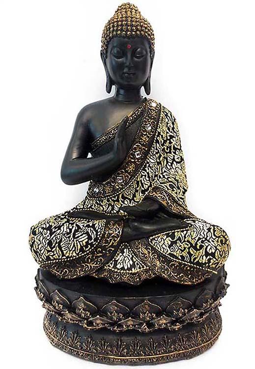 Grote Meditatie Buddha op As-sokkel  (1.4 liter)