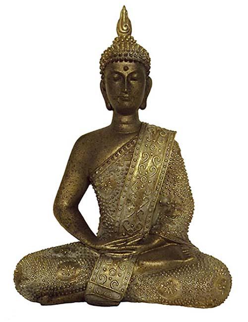 Thaise Meditatie Boeddha Urn Oudbrons  (0.6 liter)