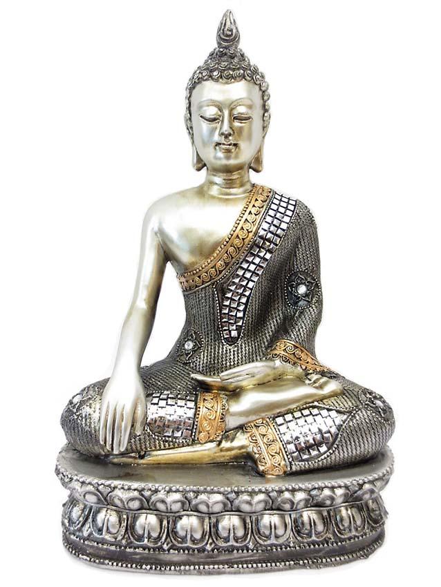 Thaise Meditatie Boeddha Urn op Lotussokkel  (1.2 liter)