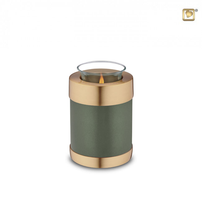 Dierenurn met waxinelichtje (0.3 liter)