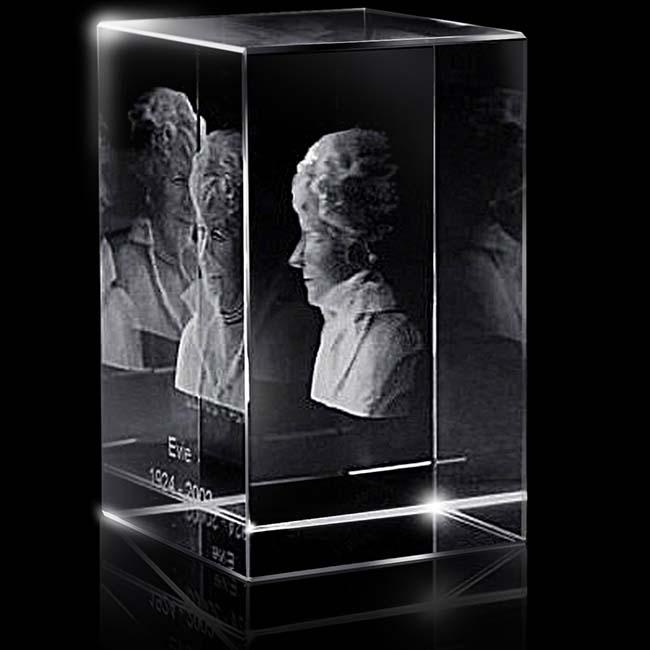 XXL Kristalglas Rechthoek met Lasergravure (30 cm.)