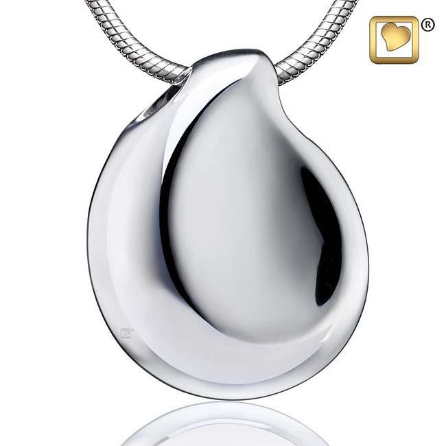 Ashanger Teardrop Glimmend Zilver inclusief Collier