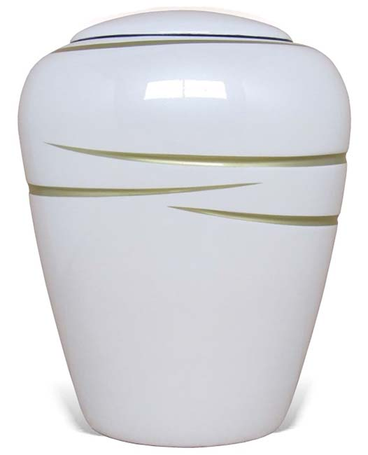 Ovale Resin Urn Shiny White (3.8 liter)