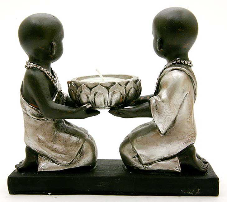 Mini Boeddha Dierenurn Kindmonnikjes Hurkzit Kaarshouder (0.1 liter)