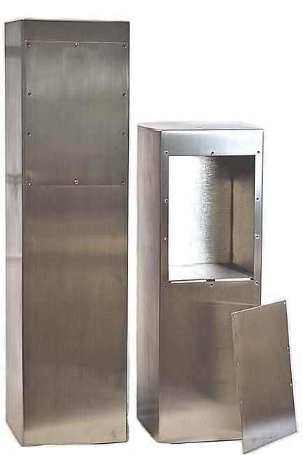 Grote RVS Margriet Urn op Grote RVS Assokkel (2 x 3.5 liter)